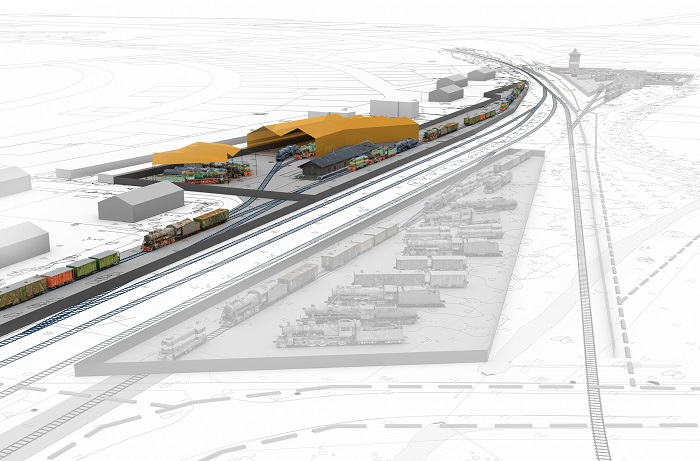Haapsalu raudteejaam on saanud valmis uue veeremi ümberpaigutuse kava